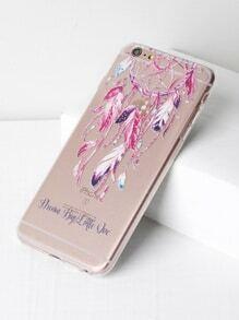 Dreamcatcher Print Clear iPhone 6 Plus/6s Plus Case