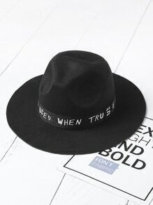 Slogan Band Fedora Hat