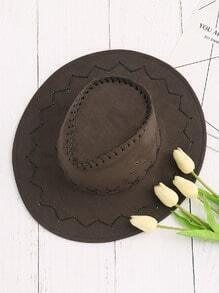 Sombrero con detalle cruzado