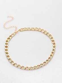 Simple Plated Link Necklace
