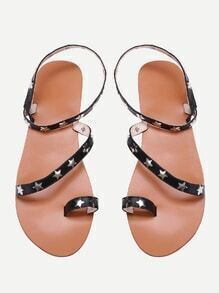 Star Studded Toe Ring Sandals