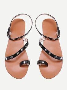Sandalias con tachuelas en forma de estrella