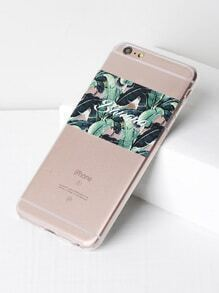 Jungle Print Soft iPhone 6 Plus/6s Plus Case