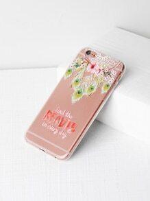 Dreamcatcher & Flower Print iPhone 6/6s Case