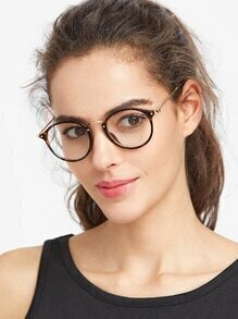 Leopard Frame Round Glasses