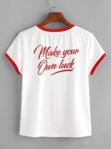 Make Your Own Luck Ringer Tee