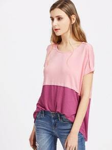 Cut And Sew Tiered High Low Tee