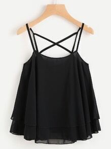 Layered Criss Cross Back Cami Top