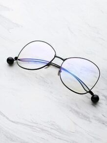 Ball Detail Curved Frame Eyeglasses