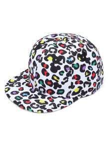 Graphic Print Embroidery Detail Baseball Cap