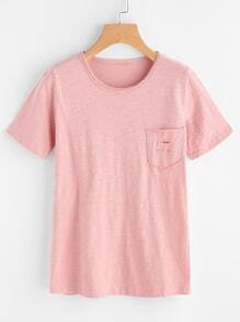 Ripped Chest Pocket Slub Tee