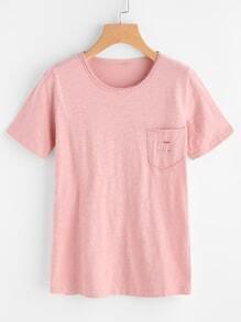 Camiseta rota con bolsillo
