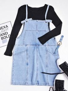 Adjustable Denim Slip Dress