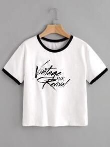Tee-shirt imprimé des lettres