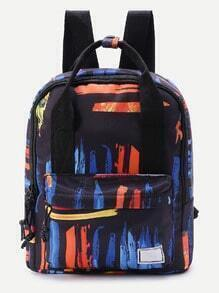 Graffiti Print Double Handle Backpack