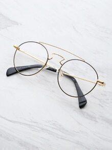 Double Bridge Round Glasses