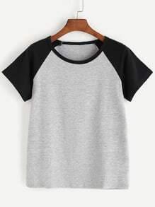 Tee-shirt manche raglan en fil de laine