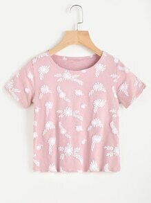 All Over Floral Printed Tee