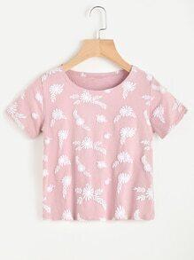 Camiseta con estampado floral