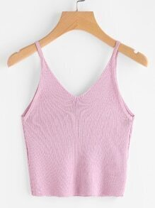Knit Crop Cami Top