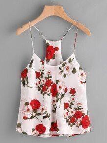 Florals Chiffon Cami Top