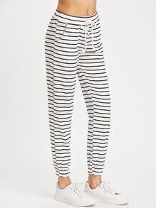 Striped Tapered Leg Pants