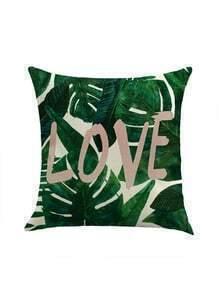 Jungle & Love Print Pillowcase Cover