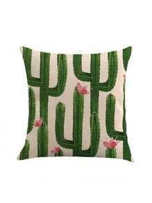 Cactus Print Pillowcase Cover