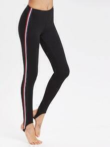 Striped Side Stirrup Leggings