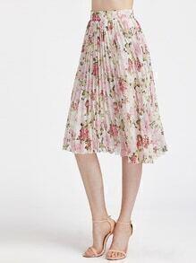 Kurze Röcke mit Rosedruck