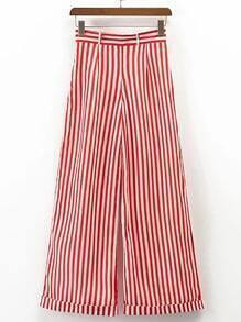 Vertical Striped Wide Leg Pants