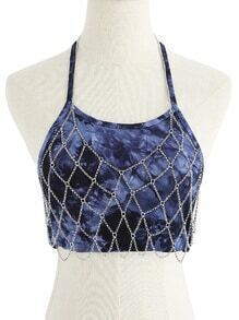 Net Design Halter Body Chain