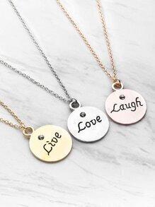 Runde Anhänger Freundschaft Halskette 3pcs