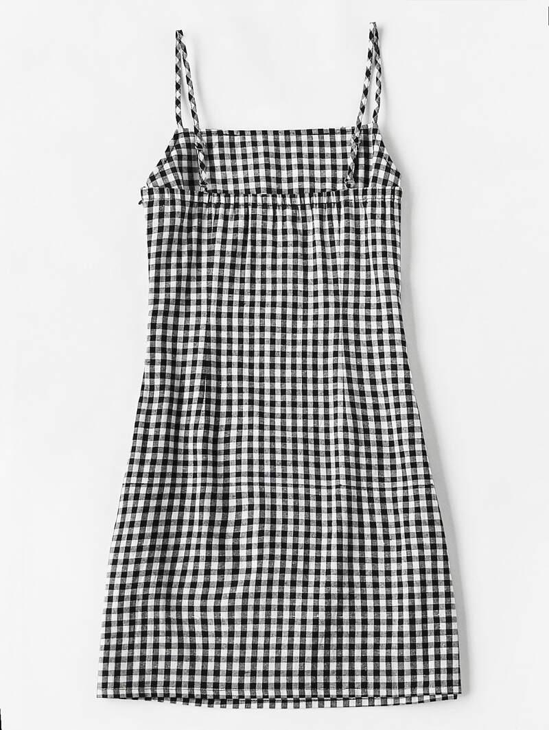 dfd492fdc Gingham Print Cami Dress