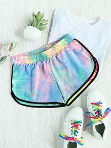 Shorts mit Wasserfarbe
