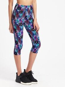 Active Aztec Print Capri Leggings