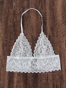Scalloped Trim Lace Bralet