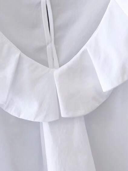 V-Neckline Cap Sleeve Top