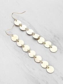 Coin Fringe Delicate Drop Earrings