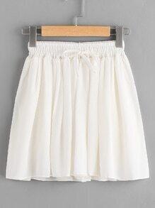 shorts mit Gummiband Taille und Knoten
