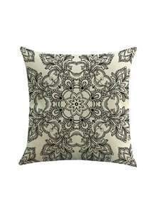 Geometric Calico Print Pillowcase Cover