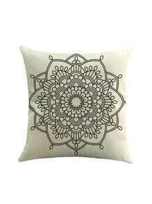 Lotus Flower Print Pillowcase Cover