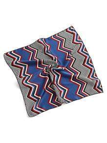 Chevron Striped Print Satin Bandana
