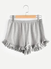 Shorts mit elastischer Taille und Falten