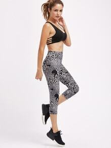 Active Seamless Pattern Capri Leggings