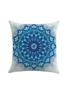 Geometric Flower Print Cushion Cover