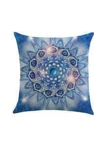 Symmetrical Flower Print Cushion Cover
