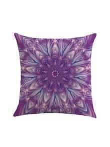 Lotus Flower Print Cushion Cover