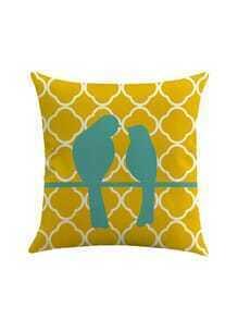 Bird Couple Print Pillowcase Cover