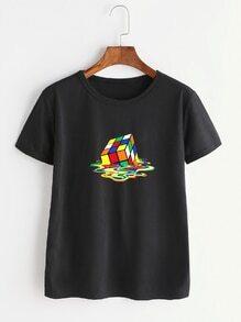 Cube Print Tee